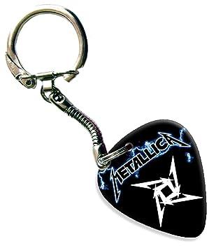 Metallica Guitarra Púa Para Llavero Schlusselring: Amazon.es ...