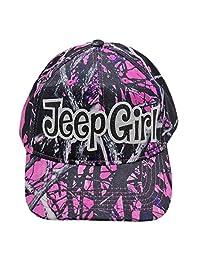 Jeep Girl Camo MuddyGirl Glittering Trucker Style Cap Hat (MuddyGirl/black)