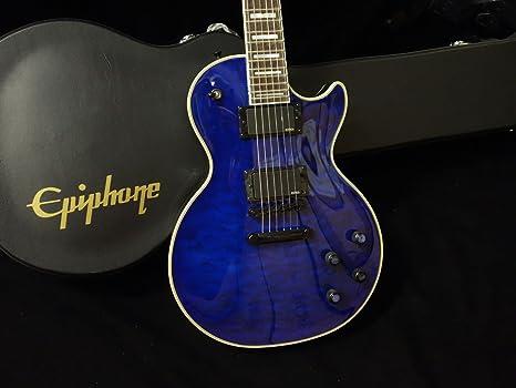 Nueva Profecía Epiphone Les Paul Custom Plus Ex Midnight Sapphire guitarra eléctrica