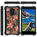 zte imperial ii otterbox - TurtleArmor | Compatible for ZTE Imperial Max Case | Max Duo | Grand X Max 2 [Grip Combat] Hard Impact Dual Resistant Armor Kickstand Defender Case Girl Designs - Captivating Pink Floral