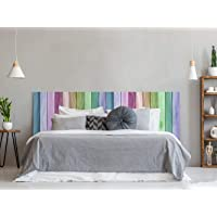 Cabecero Cama PVC Textura Madera Arcoiris 100x60cm | Disponible en Varias Medidas |…