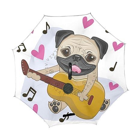 ba82267cbdf9 ALAZA U Life Cute Dog Puppy Music Hearts Love Reverse Inverted ...