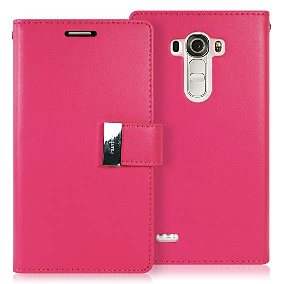 check out d8c00 42773 LG G4 Case, [Drop Protection] GOOSPERY Rich Diary [Wallet Case] Premium  Soft Synthetic Leather Case [ID/Card & Cash Slot] Cover for LG G4 (Hot  Pink) ...