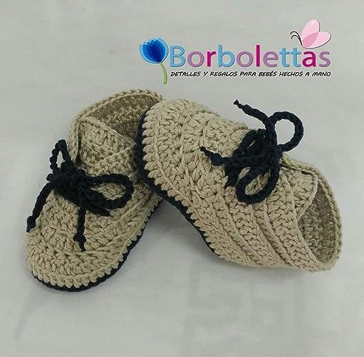 MiniBotines para Bebé Recién Nacido 0-3 meses, Camel-Azul Marino ...