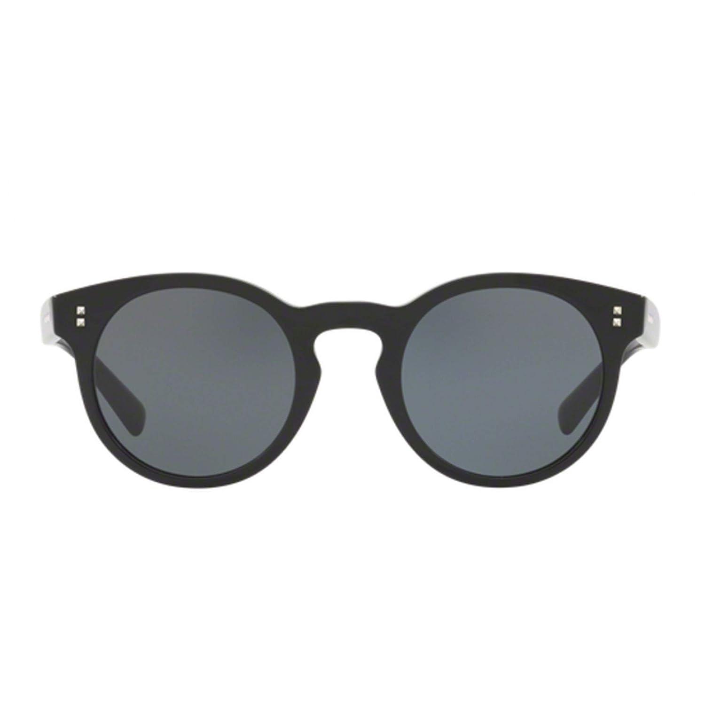 Valentino VA4009 501087 Black VA4009 Round Sunglasses Lens Category 3 Size 47mm