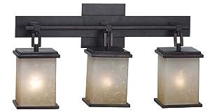 Kenroy Home 3374 Plateau 3-Light Vanity, Oil Rubbed Bronze