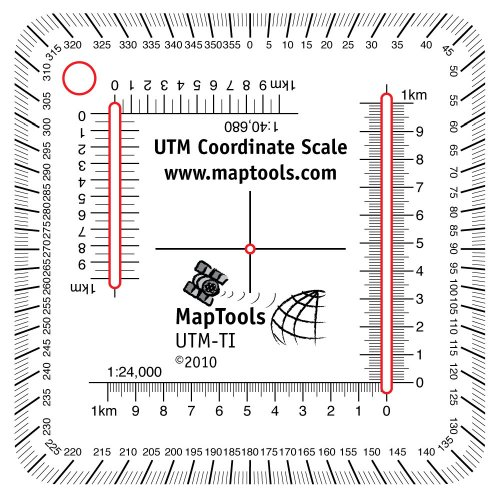 Amazon.com: UTM Ruler For trails illustrated Maps: Map Tools ...