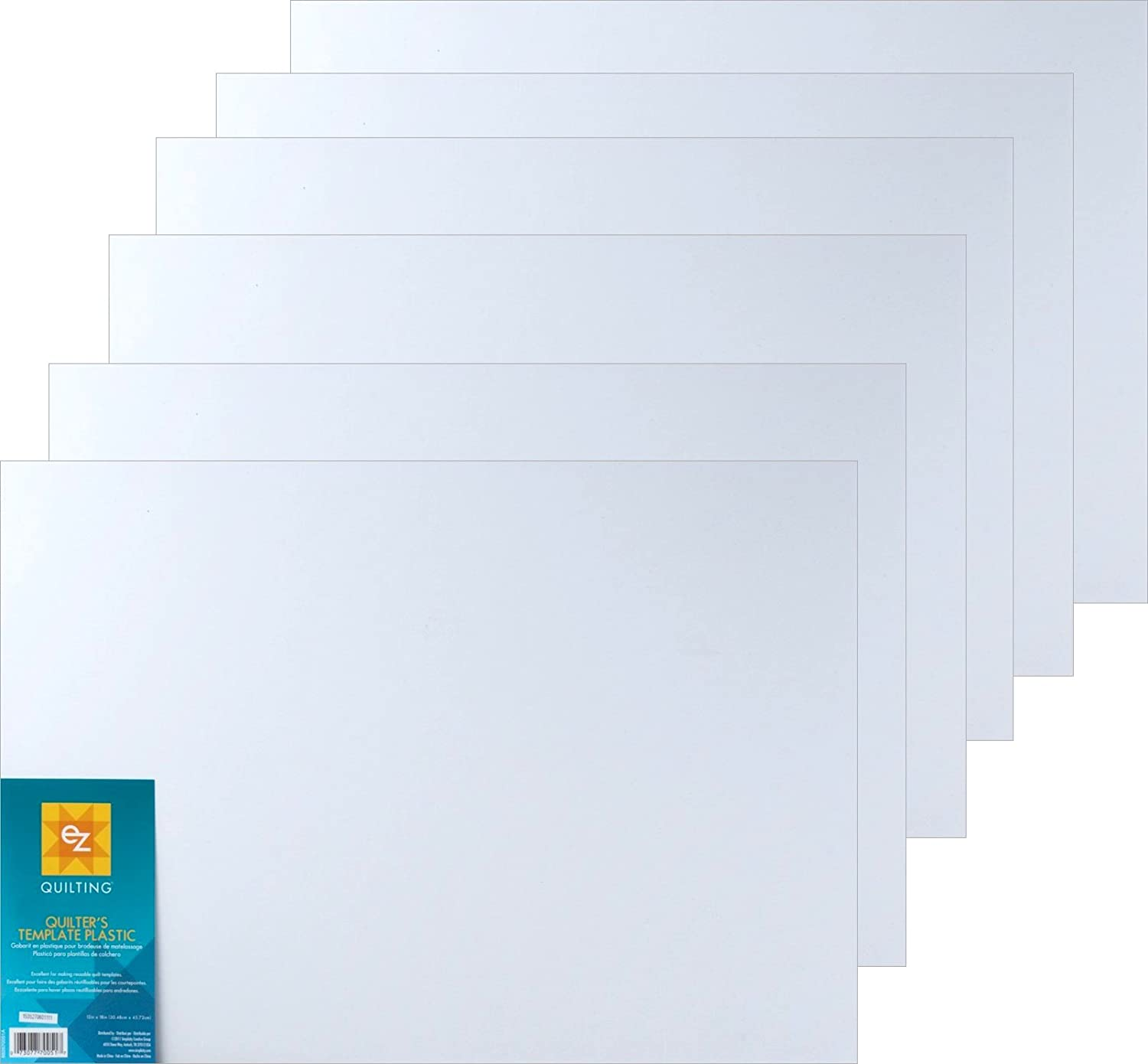 Bundle of EZ International Quilting by Wrights Blank Plastic Template Sheets, 12in x 18in (6 Sheets) 4336997351