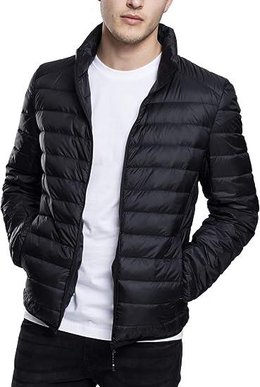 Urban Classics Herren Daunenjacke Basic Down Jacket, gefütterte Steppjacke für Herbst und Winter, praktisch verstaubar in mitgelieferter Tasche