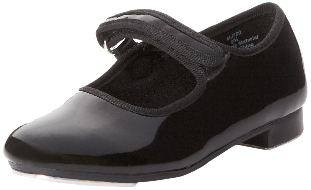Dance Class Mary Jane Tap Shoe (Toddler/Little Kid), Black Patent, 11 M US Little Kid