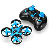 GoolRC Mini UFO Drone 2.4G 4CH 6 Axis Headless Mode Remote Control Nano Quadcopter RTF Mode 2 Quadcopter(Blue)