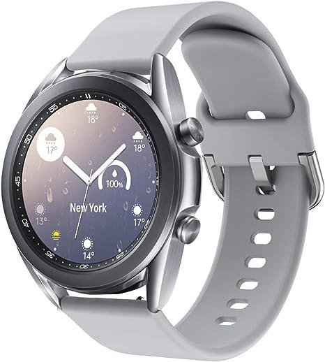 Imagen deSPGUARD - Correa de Repuesto para Samsung Galaxy Watch Active 2 de 40 mm, Correa de 44 mm, Silicona Suave con Cierre de Metal para Galaxy Watch Active 2