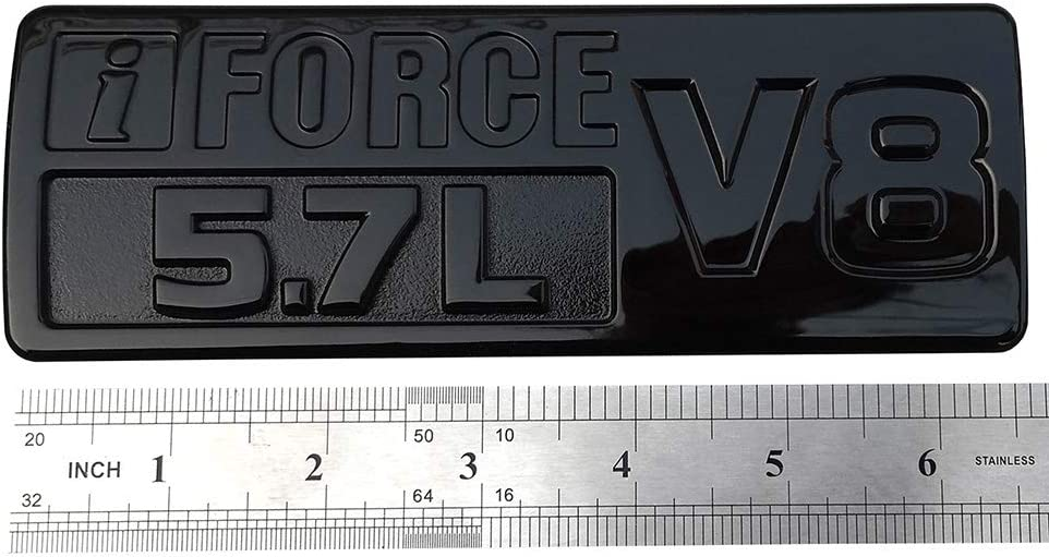 3D Door Badge Nameplate Decals Stickers Replacement for Tundra TRD PRO IFORCE 2Pcs IFORCE 5.7L V8 Badge Side Emblem Matte black