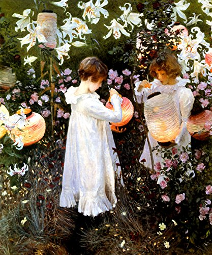WONDERFULITEMS CARNATION LILY ROSE FLOWERS GARDEN CHILDREN LIGHTING CHINESE LANTERNS 1885 AMERICAN PAINTING BY JOHN SINGER SARGENT 20