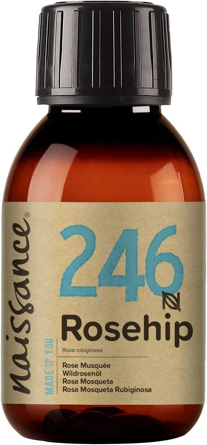Naissance Aceite Vegetal de Rosa Mosqueta Rubiginosa n. º 246 – 100ml - Puro, natural, vegano, sin hexano y no OGM
