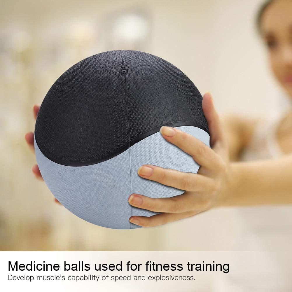 Bola de Goma de Medicina ponderada para el Ejercicio de Entrenamiento Muscular de Gimnasio Nannday Bal/ón de Medicina