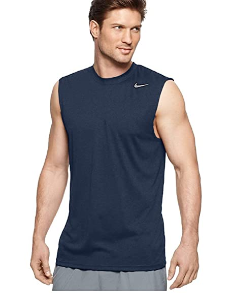 NIke Mens Legend Dri Fit Sleeveless T Shirt (XX Large, Navy