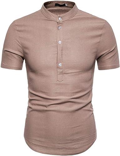Camisas Informales de Verano para Hombre, Camisa de Manga Corta Slim Fit de Verano, Estilo Polo Cachi XXL: Amazon.es: Ropa y accesorios