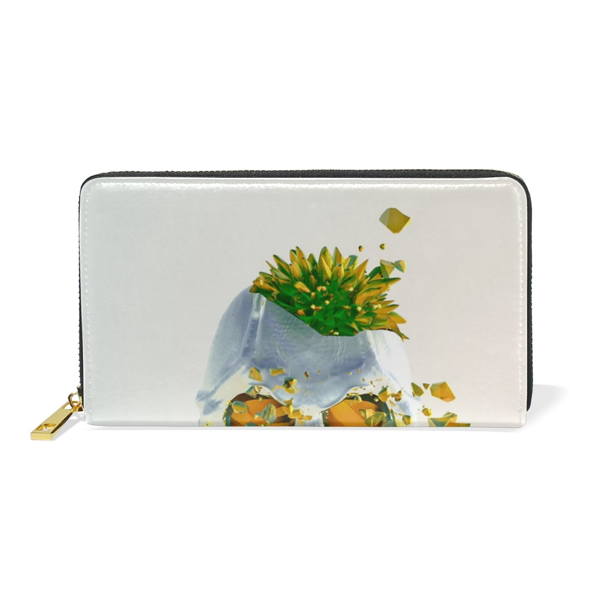 5d8fd7e859b1 POUKE Pineapple Skull Leather Women's Wallet Card Case Organizer ...