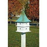 Heartwood Cypress Landing Bird House - White