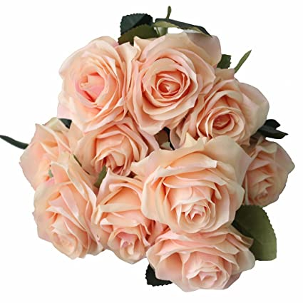Amazon Adolingo Artificial Flowers French Roses Fake Silk