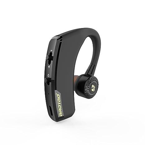 aROTaO Auricular Bluetooth, Auriculares Inalámbricos Bluetooth Manos Libres Cancelación de Ruido con Micrófono para Teléfonos