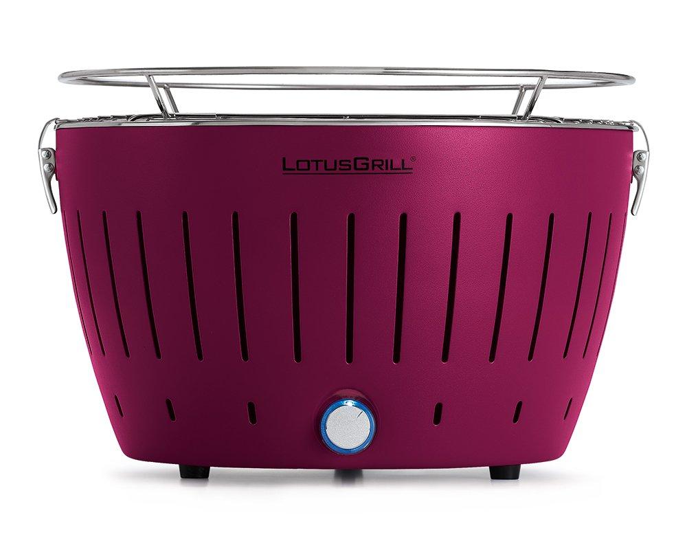 LotusGrill G LI Barbacoa de carbón sin humo color púrpura