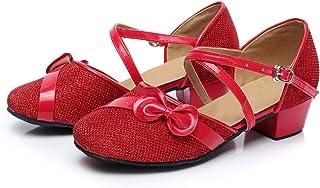Chaussures de Danse Latine pour Filles Chaussures d'entraînement Professionnelles, Sandales de soirée Scintillantes Sandales de soirée Scintillantes