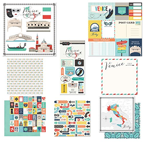 Scrapbook Customs Themed Paper and Stickers Scrapbook Kit, Venice City Memories