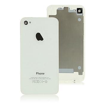 HIPOPAPO Cubierta tapa trasera blanca para Appe IPhone 4S + destornillador 5 puntas pentalobe