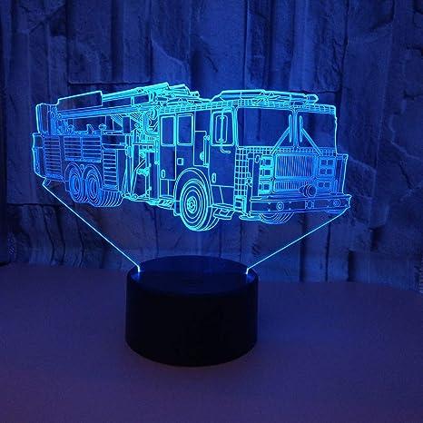 Orangeww Lámpara de búho 3d 7 lámparas de noche LED de color ...