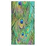 "Peacock Feather Sale Custom Bath Towels Large Soft and Comfortable Travel Beach Bathroom Shower Washcloth Wrap for Men/Women 80% Polyester 20% Cotton, (30"" x 56"")"