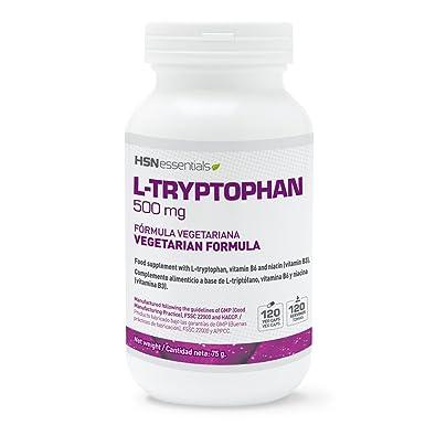 L-Triptófano 500mg de HSN Essentials – Con Vitamina B3 y B6 – Mejora el