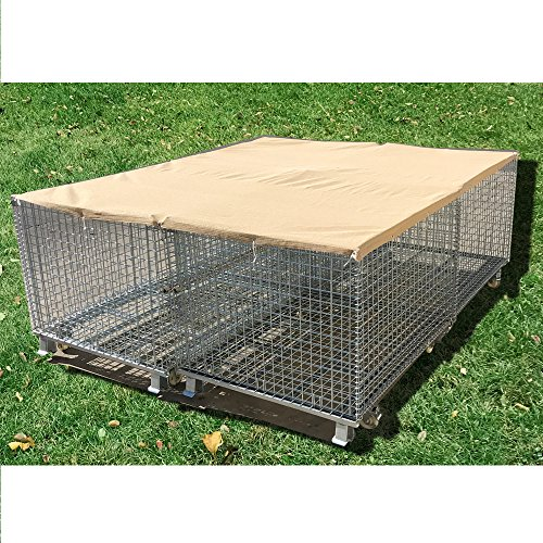 Alion Home Sun Block Dog Run & Pet Kennel Shade Cover Privacy Screen (Dog kennel not included) - No Black Trim - Beige (10' x 20')