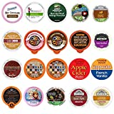 Coffee, Tea, Cider, and Hot Chocolate Single Serve Cups For Keurig K cup Brewers, Variety Pack Sampler (Premium Mix, 20)