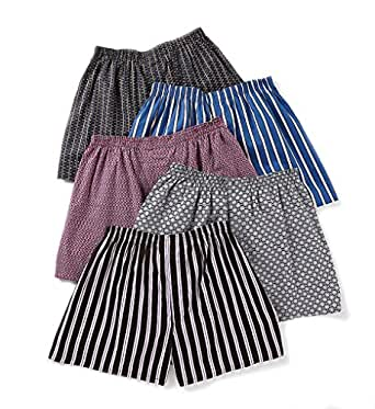 Fruit Of The Loom Big Man Woven Boxers - 5 Pack (5P582X) 2X/Print/Stripes Assorted