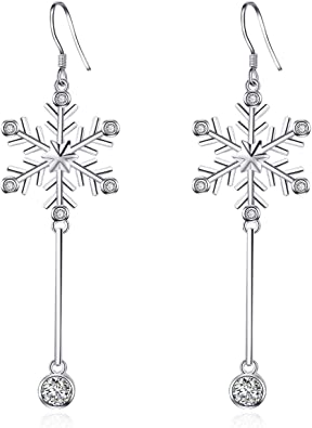 SilverBraceletsPendants Pack of 10 -JSP-4 Earrings Snow Flake Charms