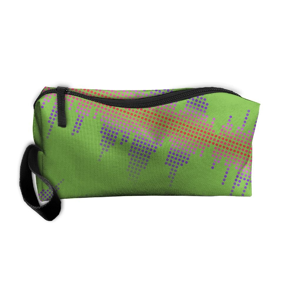 a8aac2cfa6 outlet Music Track Note Wave Neon Women s With Zipper Travel Luggage  Handbag Organizer