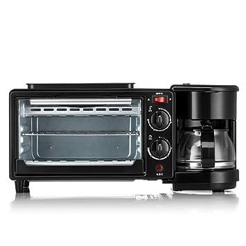 ZHANGM Máquina automática Multifuncional casera del Desayuno de la máquina del Pan de la máquina del café de la máquina del Pan de la tostadora: Amazon.es
