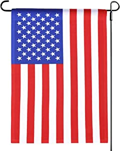 American USA Garden Flag 12.5 x 18 Inch- Patriotic Small Yard United States Flags Double Sided