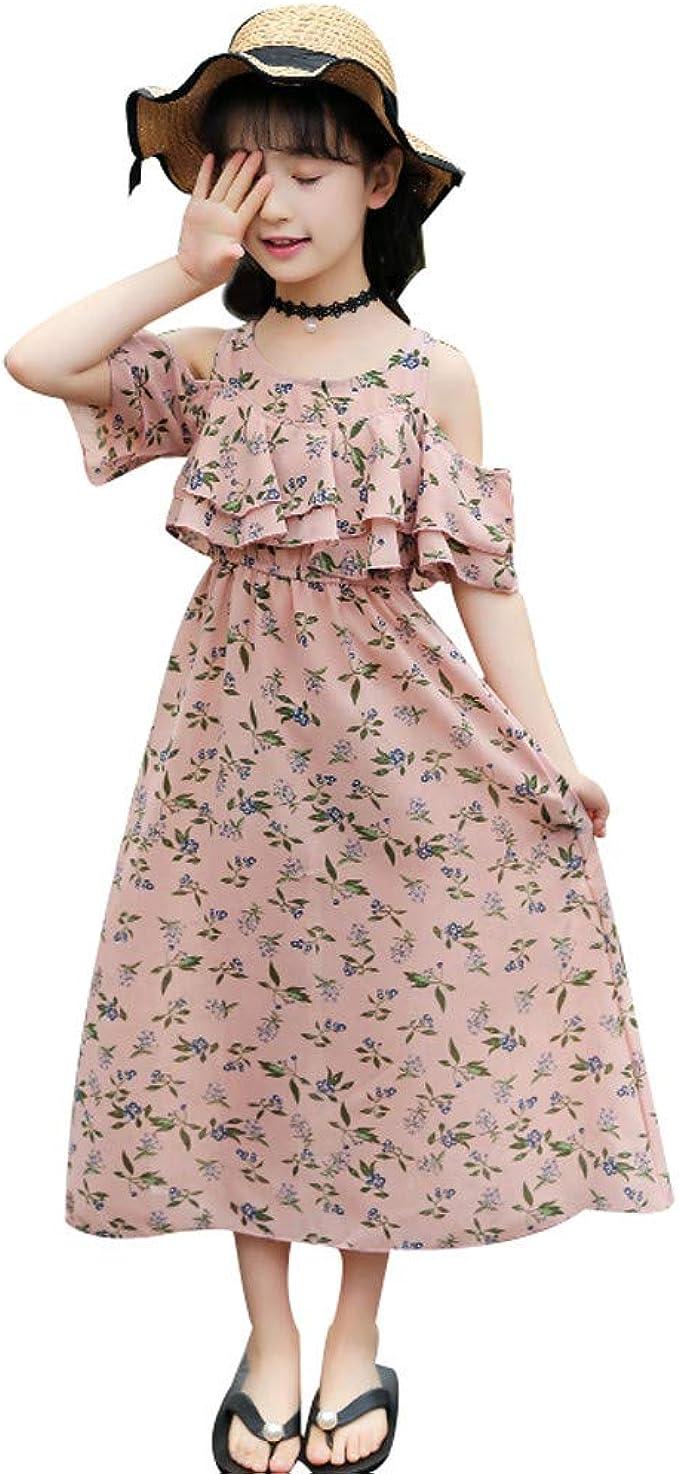 MRULIC MRULIC Mädchen Kleid Bohemian Style Kleider Mädchen
