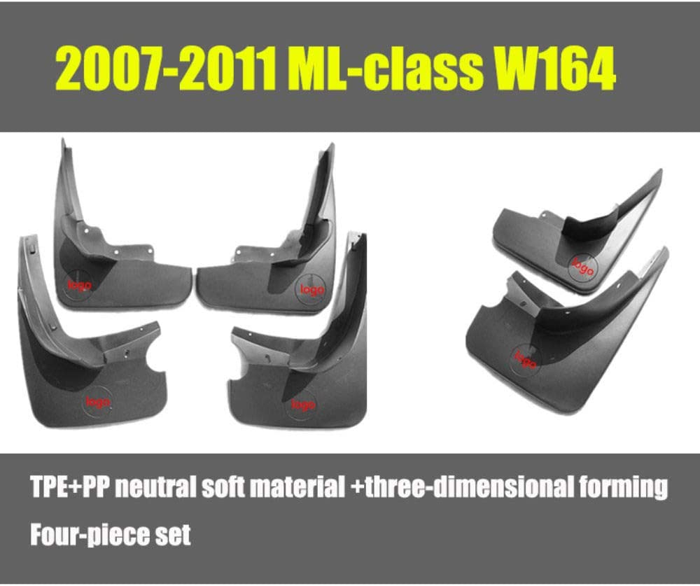 F/ür Benz ML-Class W164 2007-2011 Vorne Hinten Spritzschutz Set Schrauben 4Pcs Schmutzf/änger Gummi Kotfl/ügel Schwarz Verbesserte Fender Styling /& Body Fittings Mud Flaps Splash Guards