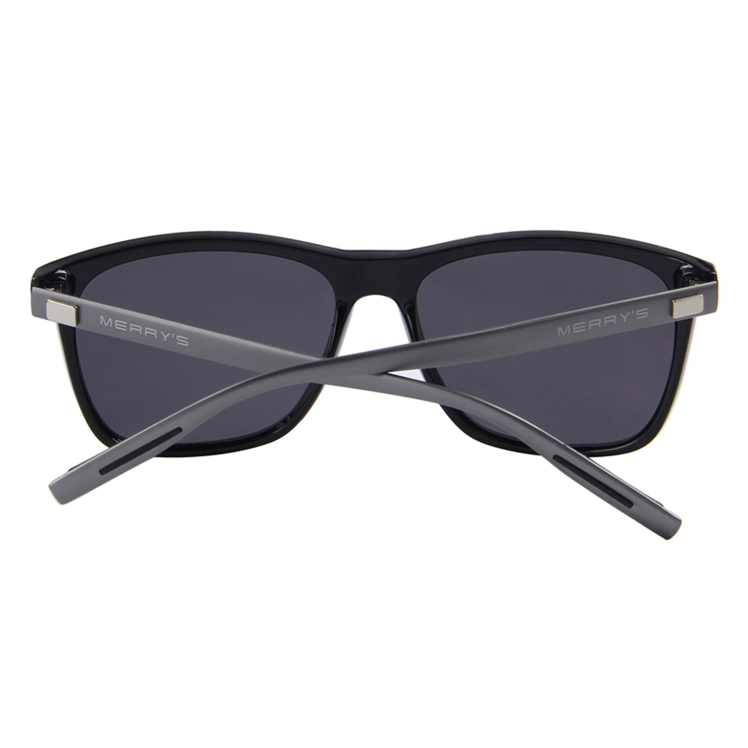 f7d5fff74ed Amazon.com  MERRY S Unisex Polarized Aluminum Sunglasses Vintage Sun Glasses  For Men Women S8286 (Black