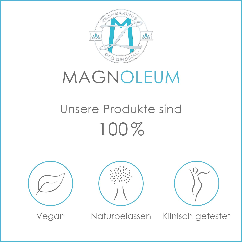 Aceite de magnesio de Zechstein MAGNOLEUM - Frasco pulverizador de vidrio de 100 ml - Dermatológicamente y clínicamente probado - Agua salina de magnesio ...