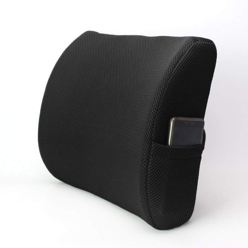 XJ&DD Office Lumbar Support pad,Waist Pillow,Car seat Cushion,Premium Memory foamfor Home Computer Games Travel Student-C 32x34x10cm(13x13x4inch)