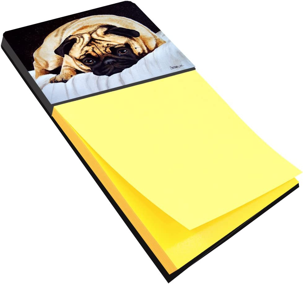 Caroline's Treasures AMB1194SN Fred The Pug Sticky Note Holder, Large, Multicolor