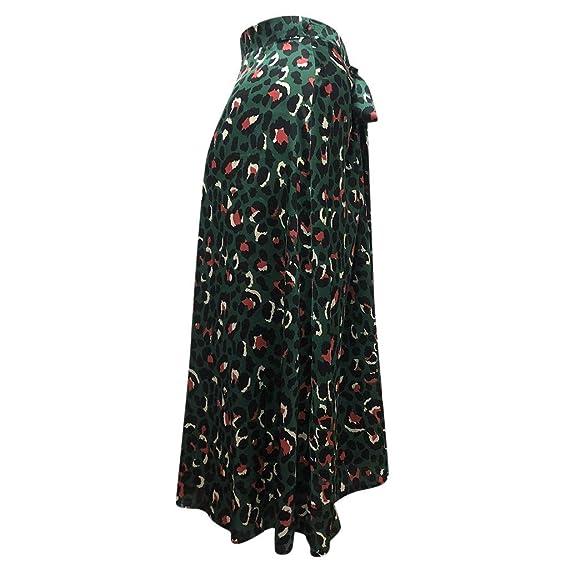 PARVAL Mujeres Faldas largas con Estampado Elegante para Mujer ...