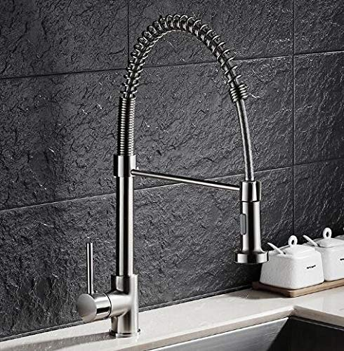 Decorry Messing Nickel Frühling Herausziehen Küche Wasserhahn Waschbecken Wasserhahn Luxus Hot Cold Luxus Wasser Küche Mischbatterie
