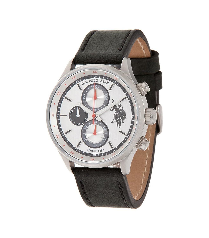 Uhr U.S. Polo Assn Unisex usp4111gy Quarz (Batterie) Stahl Quandrante Silber Armband Leder