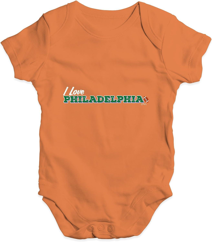 TWISTED ENVY I Love Philadelphia American Football Baby Unisex Printed Infant Bodysuit Baby Grow